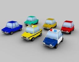 3d model cartoon vehicles