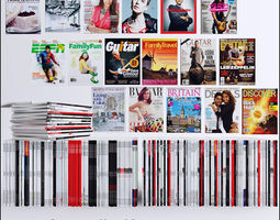 magazines collection 80 piece 3d