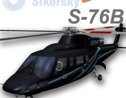 3D asset Sikorsky S-76B N19HF HeliFlite