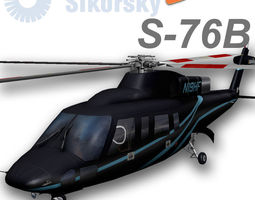 sikorsky s-76b n19hf heliflite 3d model low-poly rigged animated max
