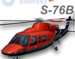 Sikorsky S76B D-HHNH HeliService 3D Model