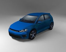 3D asset German Hatchback R Generic 2015