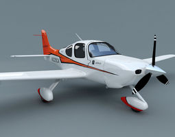 3d cirrus sr-22 airplane