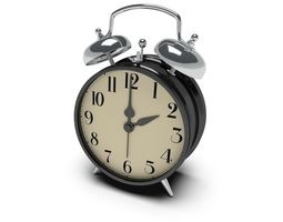 3d twin bell alarm clock