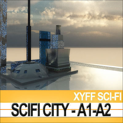 3d xyff scifi city a1 and a2 cgtrader - Architecture 3d vue 3d ...