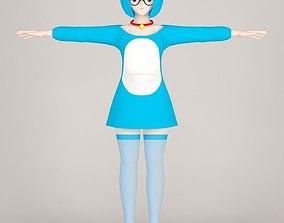 T pose nonrigged model of Doraemon toon 3D
