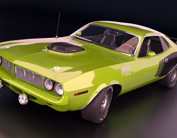 3D Plymouth Barracuda