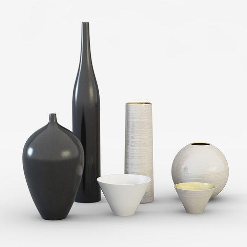 ornamental vases 3d model max obj mtl 3ds fbx 1