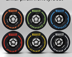 enkei front tyre set 3D asset
