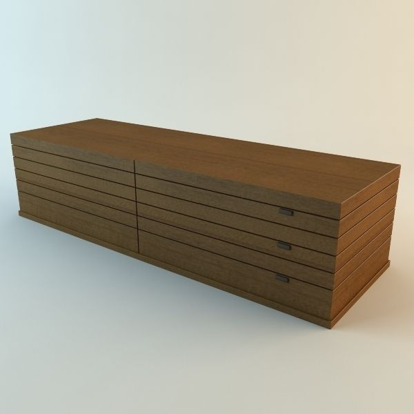 Low Storage Cabinet Model Poly Max Obj Mtl S Fbx Unitypackage Prefab 1