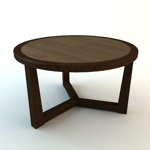 wooden tripod table 3d model low-poly max obj mtl 3ds fbx unitypackage prefab 1
