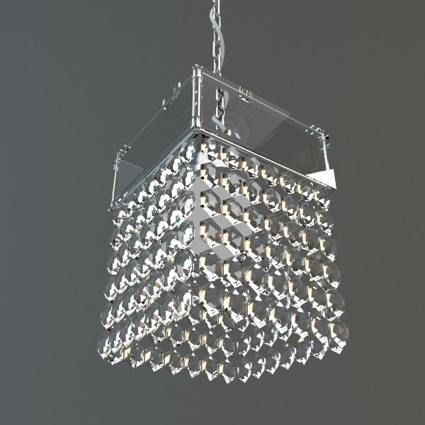 Hanging Crystal Chandelier 3d Model Max Obj 3ds Fbx Mtl 1