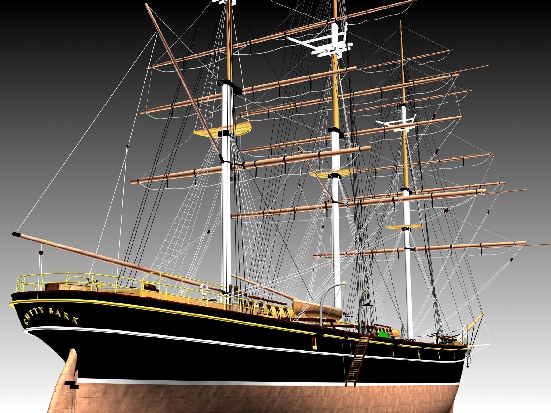 Cutty Sark Clipper - XIX Century Freighter