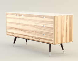 3D model Danish Retro Sideboard