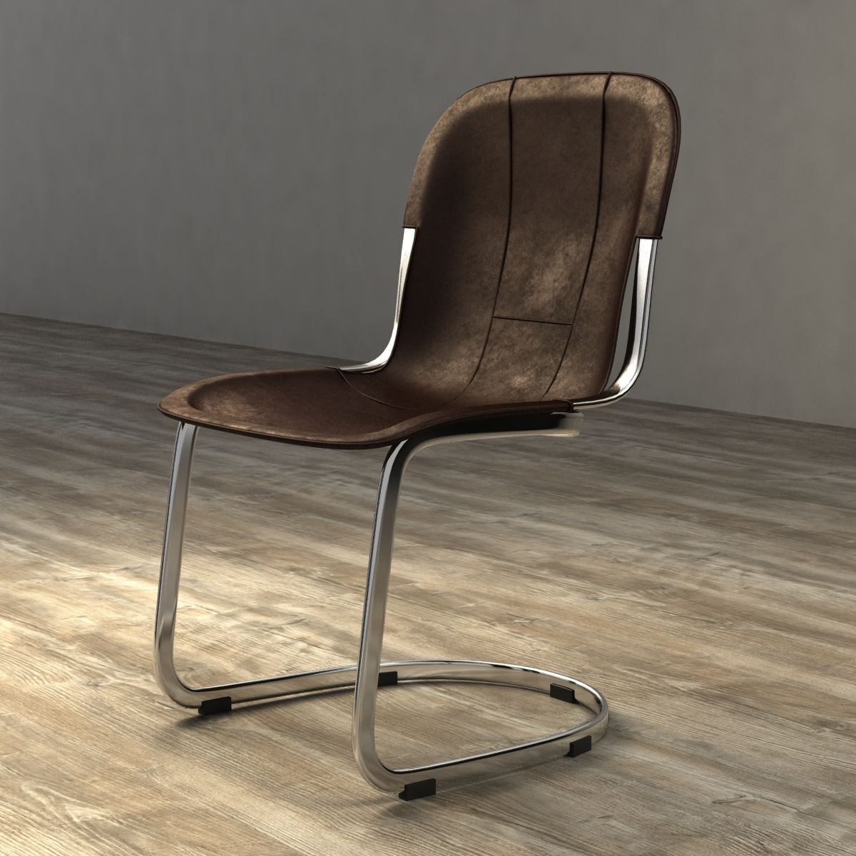 Restoration Hardware Rizzo Leather Side Chair 3d Model Max Obj 3ds Fbx Mtl  1 ...