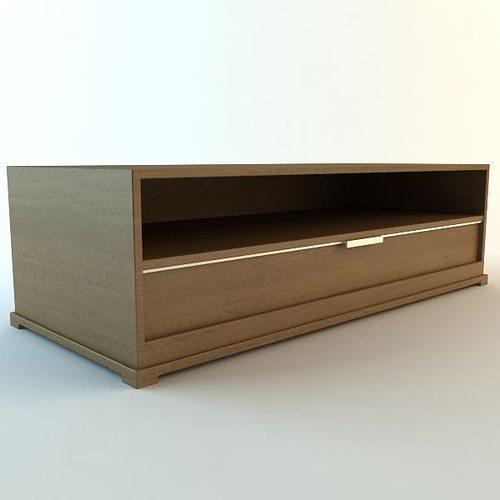 tv stand 3d model low-poly max obj mtl 3ds fbx unitypackage prefab 1