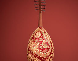 arabic oud  instrument 3d model