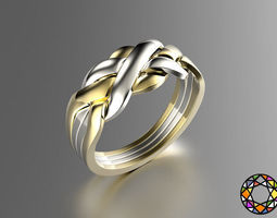 Puzzle ring 3D printable model