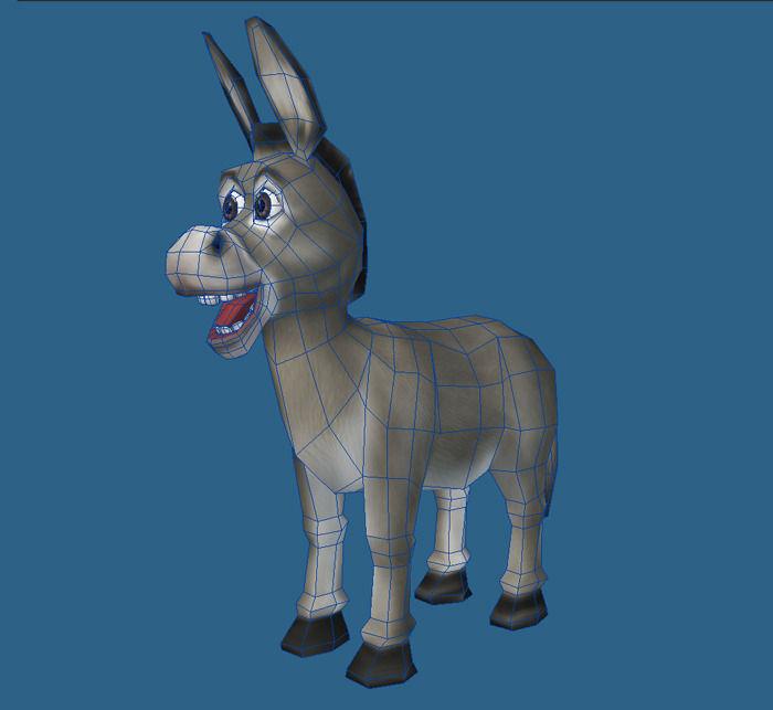 Cartoon of donkey