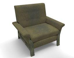 Green armchair 3D model