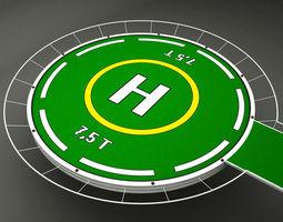 Helipad rounded 3D Model