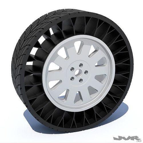 airless tire 3d model max obj 3ds fbx mtl pdf 1
