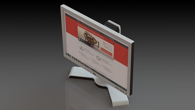 monitor dell 3d model sldprt sldasm slddrw ige igs iges 1
