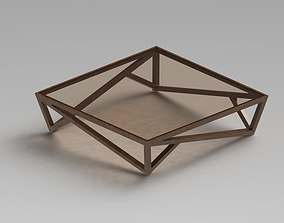 3D Modern Glass Coffee Table 2
