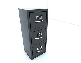 Filing cabinet 3D model game-ready
