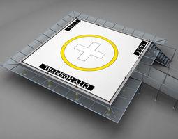 Helipad squared 3D Model