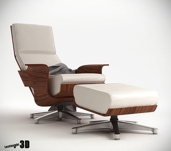 Chaise cuatro lounge chair 3d model max pdf for Chaise modele