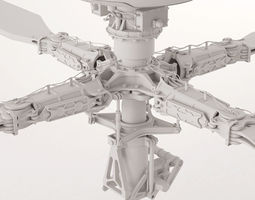 Apache Helicopter Rotor 3D Model