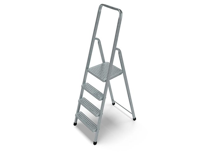 steel ladder 3d model obj 3ds blend 1
