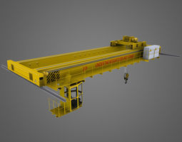 Crane Overhead 3D Model