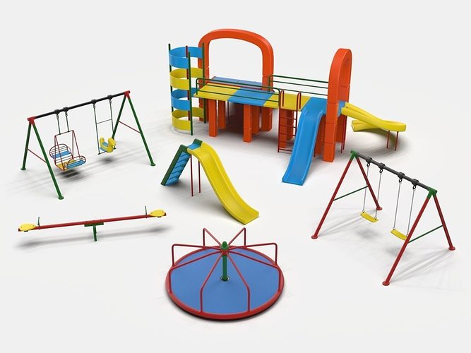playground collection 3d model obj fbx ma mb mtl 1