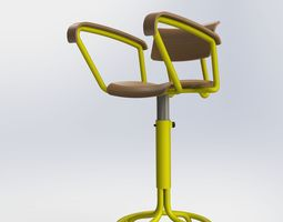 3d work chair for industry - solidworks model