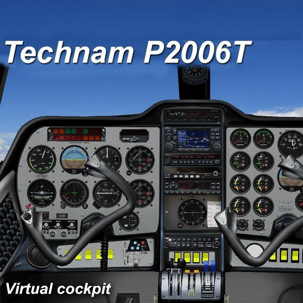 Tecnam P2006T Virtual Analog Cockpit