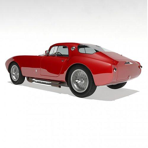 1953 maserati a6 gcs 53 pininfarina berlin... 3d model max 9