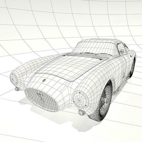 1953 maserati a6 gcs 53 pininfarina berlin... 3d model max 12