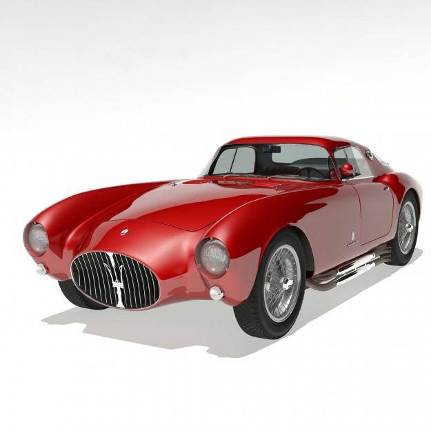 ... 1953 Maserati A6 Gcs 53 Pininfarina Berlinetta 3d Model Max Obj Fbx 4  ...