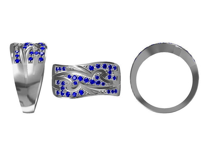 diamond ring 1833 3d model jcad jcd 1