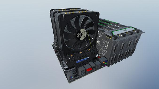 computer assembly 2014 3d model max fbx 1