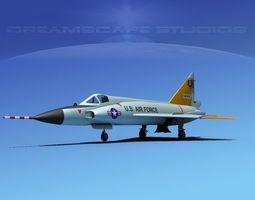 Convair F-102 Delta Dagger V10 USAF 3D Model
