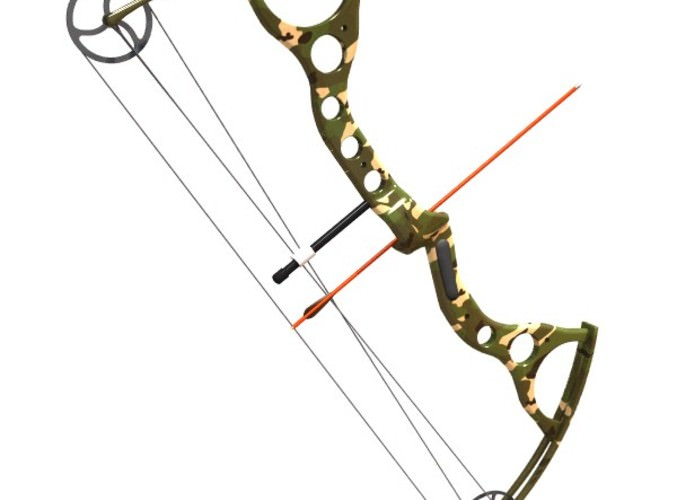 compound bow 3d model 3ds lwo lw lws 1