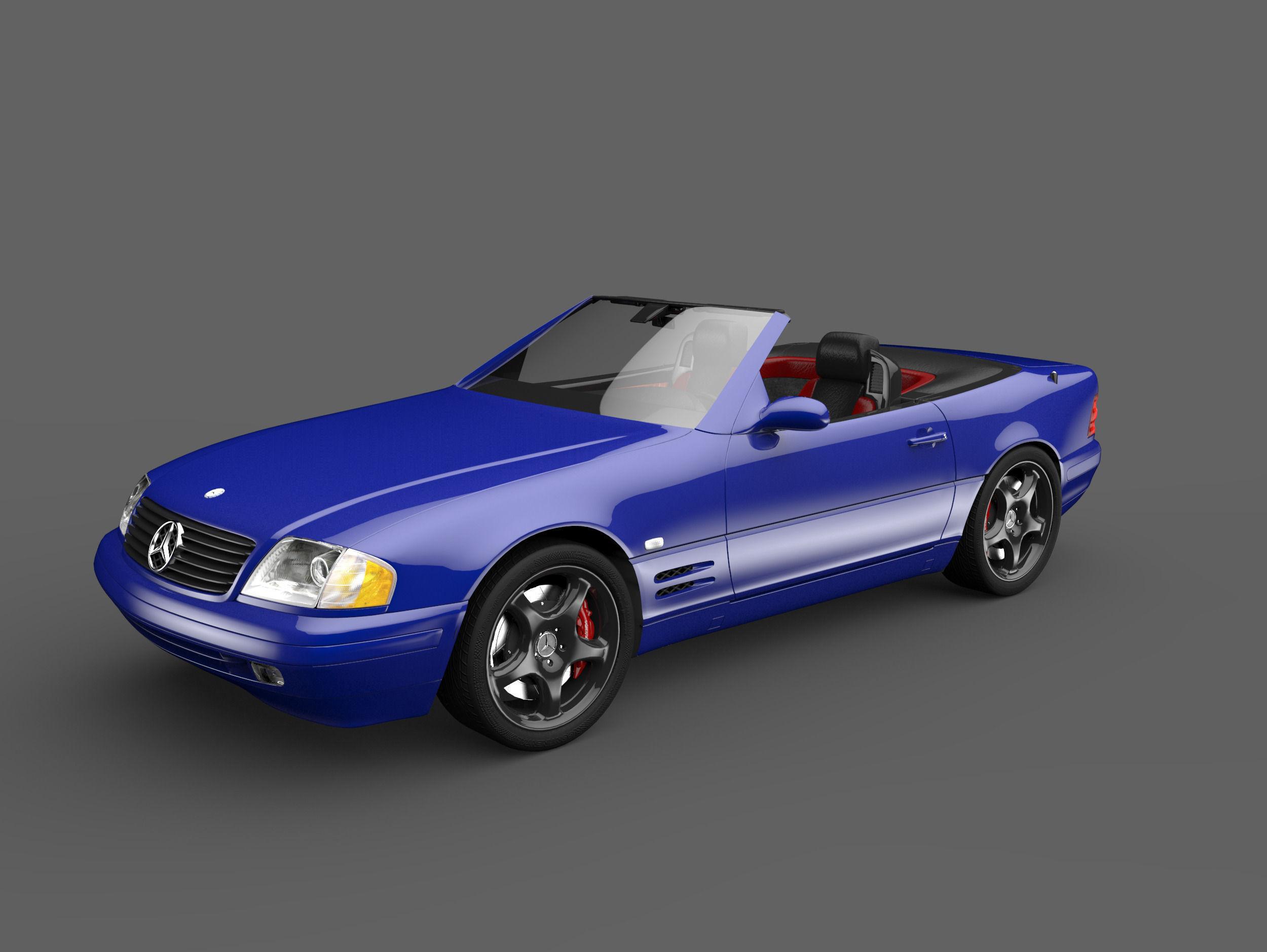 3d model mercedes sl 600 vr ar low poly fbx. Black Bedroom Furniture Sets. Home Design Ideas
