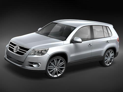 volkswagen tiguan 3d model max obj mtl 3ds lwo lw lws 1