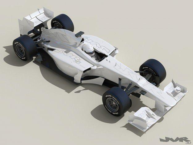 generic f1 2013 race car 3d model max obj 3ds fbx mtl pdf 1