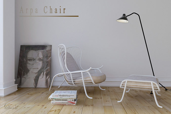 arpa lounge chair 3d model max 1