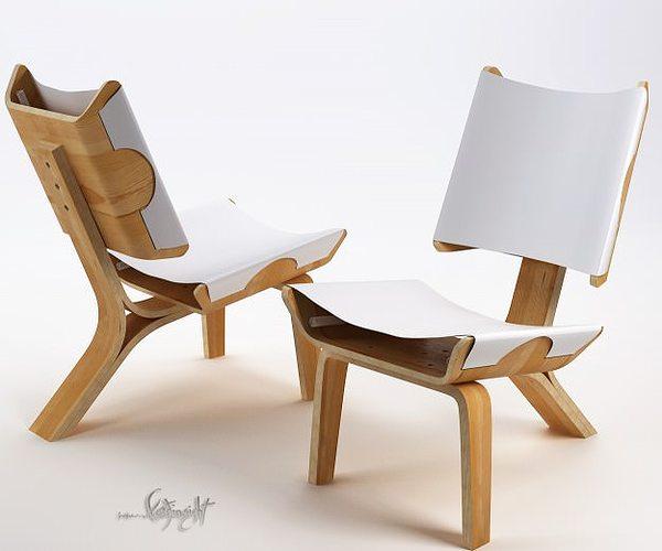 kurven chair 3d model max 1