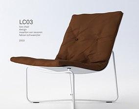 3D model Low Chair 03